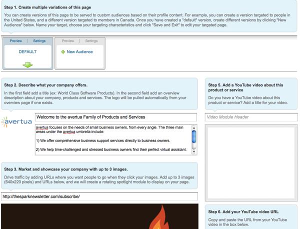 Landing Page LinkedIN