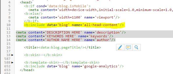 Πώς να βάλετε META tags σε Blogger [BlogSpot] blogs