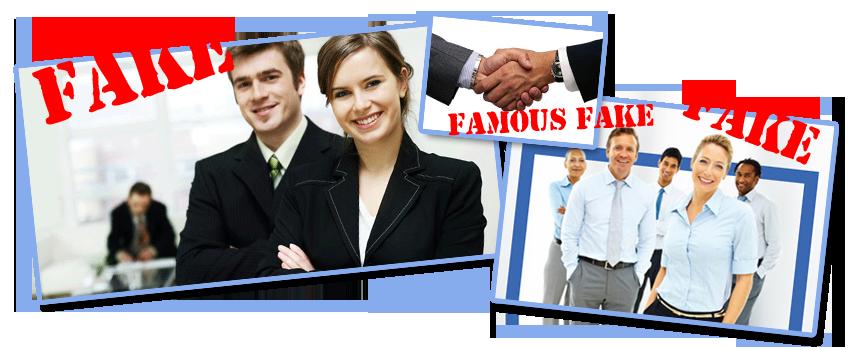Διάσημες ψεύτικες φωτογραφίες σε εταιρικές ταυτότητες